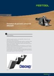 Fresatura di pannelli compositi Dibond® - Festool