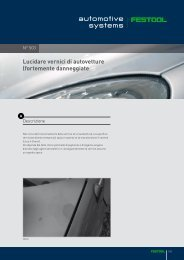 Lucidare vernici di autovetture (fortemente danneggiate - Festool