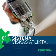 Parsisiųsti Naudingus 2010 metų pasiūlymus - FESTOOL