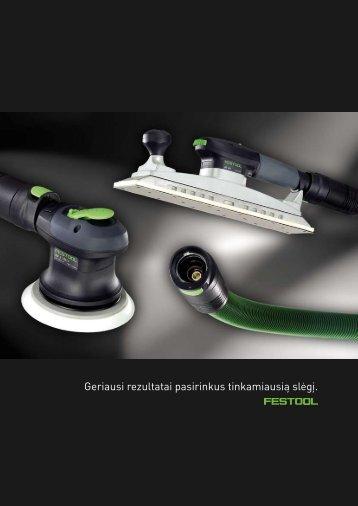 Šlifavimas pneumo įrankiais.pdf - FESTOOL