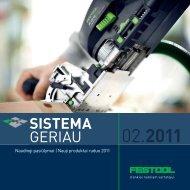 Detalus Festool 2011 metų naujinų pristatymas PDF formate