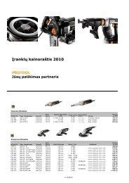 Įrankių kainoraštis 2010 - FESTOOL