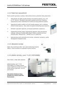 Žingsnis po žingsnio instrukcijas rasite čia - FESTOOL - Page 5