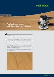 Plankdelen vervangen - parket met lijmvrije verbinding - Festool