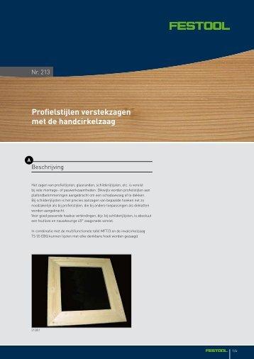 Profielstijlen verstekzagen met de handcirkelzaag - Festool