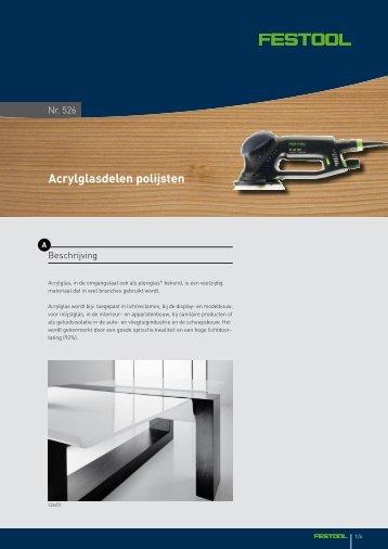 Acrylglasdelen polijsten - Festool