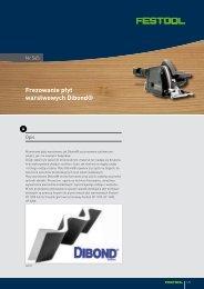 Frezowanie płyt warstwowych Dibond® - Festool