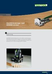 Stomförbindningar med DOMINO-brickor - Festool