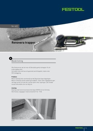 Renovera trappor - Festool