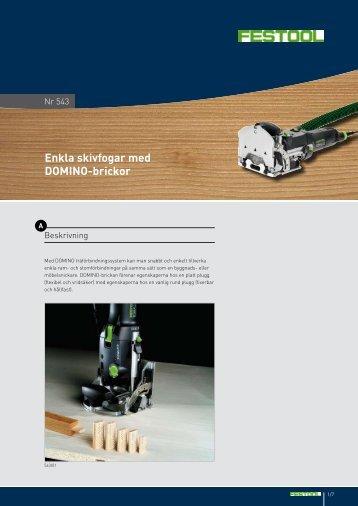 Enkla skivfogar med DOMINO-brickor - Festool