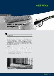 Renovera träfönster och balkongdörrar - Festool