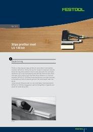 Slipa profiler med LS 130 kit - Festool