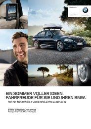 WUSSTEN SIE SCHON ... DASS IHR BMW IN BESTEN HÄNDEN IST.