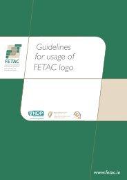 Guidelines for usage of FETAC logo