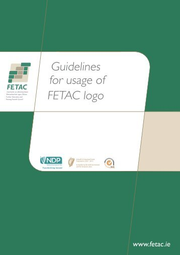 Guidelines for usage of FETAC logo