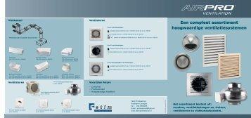 Een compleet assortiment hoogwaardige ventilatiesystemen - Fetim