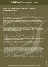 Regels voor het gebruik van Solidfloor in combinatie met ... - Fetim