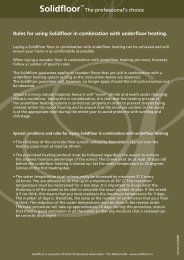 Rules for using Solidfloor in combination with underfloor ... - Fetim