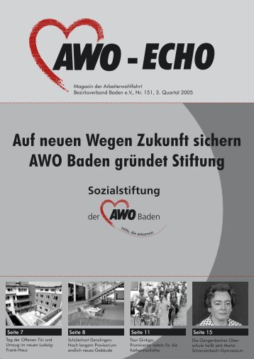 3. Quartal 2005 | Awo-Echo Ausgabe 151 - AWO Baden