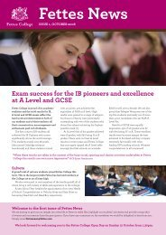 Fettes News: Issue 1 October 2008 [411709kb] - Fettes College