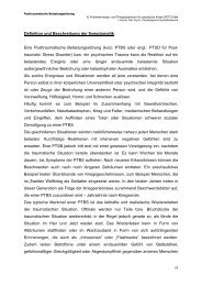 Posttraumatische Belastungsstörung - FETZ Früherkennungs