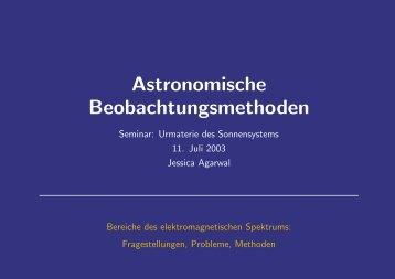 Astronomische Beobachtungsmethoden