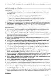 Veröffentlichungen von Till Markus - Forschungsstelle Europäisches ...