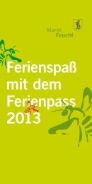 Ferienprogramm 2013 (PDF) - easyCatalog