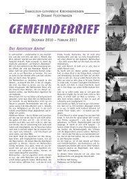 Gemeindebrief Dezember 2010 bis Februar 2011 als PDF ...