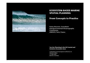 ECOSYSTEM-BASED MARINE SPATIAL PLANNING From ...