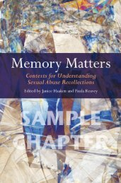 Memory Matters: Contexts for Understanding Sexual ... - Routledge
