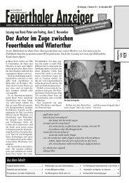 Der Autor im Zuge zwischen Feuerthalen und Winterthur