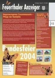 Gemeinde Feuerthalen - Feuerthaler Anzeiger