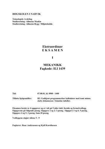 Ekstraord. 2001 - Høgskolen i Narvik - hovedside