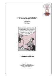 Termodynamikk - Høgskolen i Narvik - hovedside