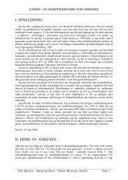 I. INNLEDNING II. EIERE AV ANKENES
