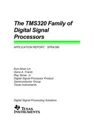 The TMS320 Family of Digital Signal Processors ... - Texas Instruments