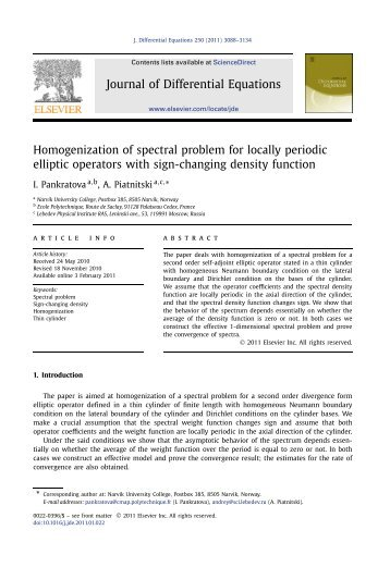 Homogenization of spectral problem for locally periodic elliptic ...
