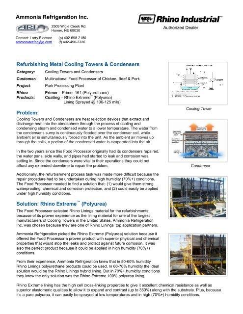 Ammonia Refrigeration Inc  - ThomasNet