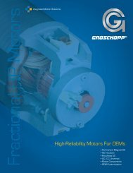 High-Reliability Motors For OEMs - ThomasNet
