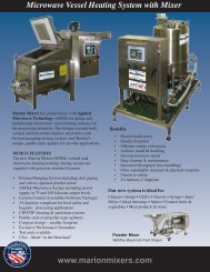 Microwave Vessel Heating System with Mixer www ... - ThomasNet