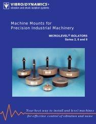 VIBRO/DYNAMICS® Machine Mounts for Precision ... - ThomasNet