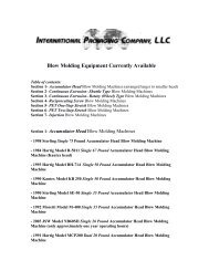 Blow Molding Equipment Currently Available - ThomasNet