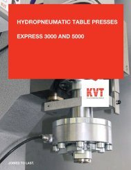 hydropneumatic table presses express 3000 and 5000 - ThomasNet