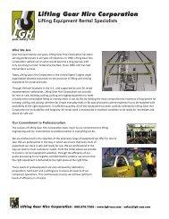 Lifting Gear Hire Corporation - ThomasNet