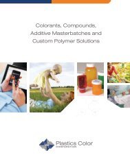 Colorants, Compounds, Additive Masterbatches and ... - ThomasNet