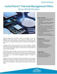 CarboTherm® Thermal Management Fillers - ThomasNet
