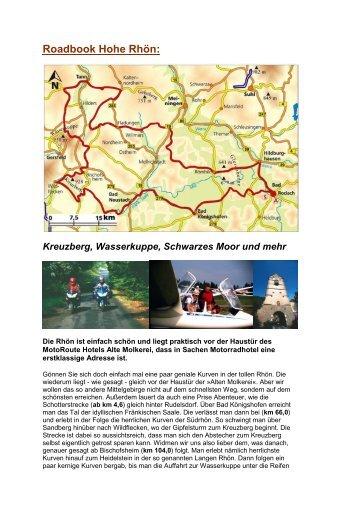 Roadbook Hohe Rhön: Kreuzberg, Wasserkuppe, Schwarzes Moor ...