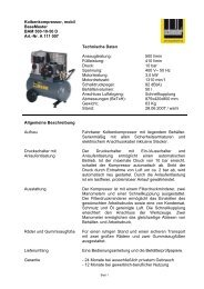 Kolbenkompressor, mobil BaseMaster BAM 500-10-50 D Art.-Nr. A ...