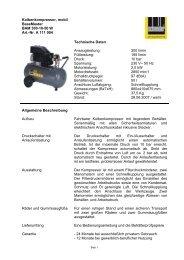 Kolbenkompressor, mobil BaseMaster BAM 300-10-50 W Art.-Nr. A ...